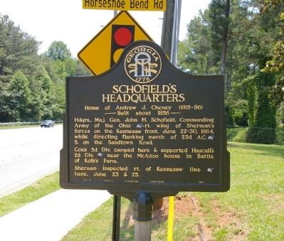 Schofield's Headquarters Marker image. Click for full size.