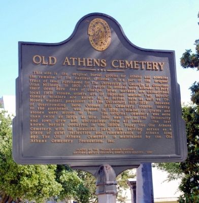 Old Athens Cemetery Marker image. Click for full size.
