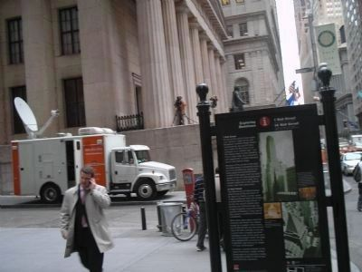 Marker in Downtown New York image. Click for full size.