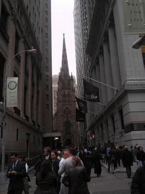 Wall Street in Lower Manhattan image. Click for full size.