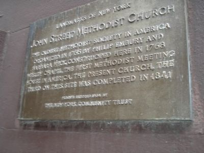 John Street Methodist Church Marker image. Click for full size.