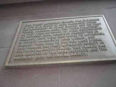 Second John Street Methodist Church Marker image. Click for full size.