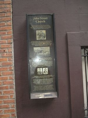 John Street Church Marker image. Click for full size.