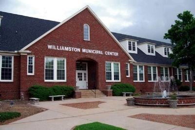 Williamston Municipal Center and Marker image. Click for full size.