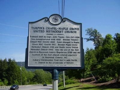"Former marker named ""Turpin's Chapel - Maple Grove United Methodist Church"" image. Click for full size."
