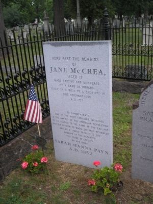 Current Grave of Jane McCrea image. Click for full size.