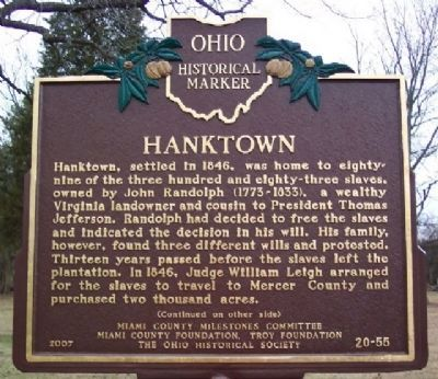 Hanktown Marker (Side A) image. Click for full size.