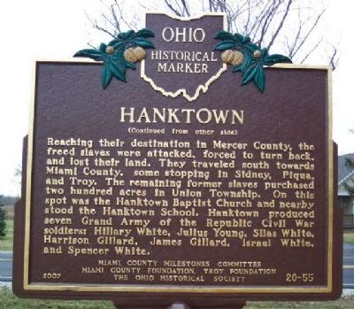 Hanktown Marker (Side B) image. Click for full size.