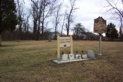 Hanktown Cemetery and Marker image. Click for full size.