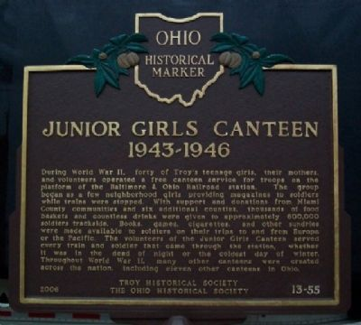 Junior Girls Canteen 1943-1946 Marker image. Click for full size.