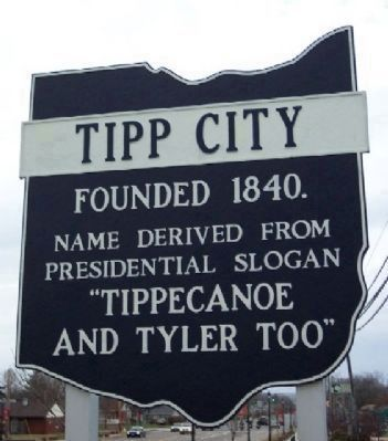 Tipp City Corporate Limit Sign image. Click for full size.