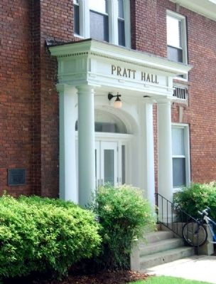 Pratt Hall and Marker image. Click for full size.
