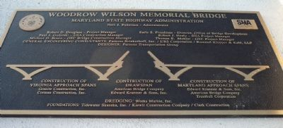 Woodrow Wilson Memorial Bridge Marker - Right Panel image. Click for full size.