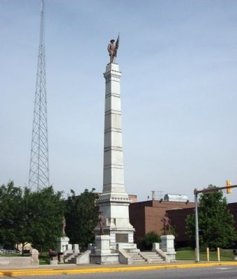 South/East View - - Civil War Memorial - Vigo County Marker image. Click for full size.