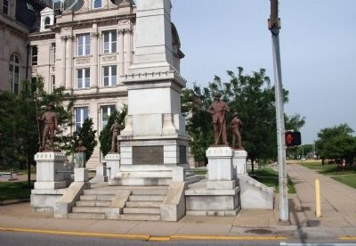 Front Base - - Civil War Memorial - Vigo County Marker image. Click for full size.