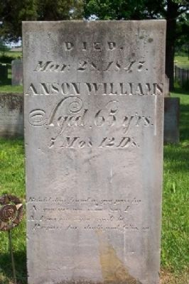 Anson Williams Headstone in Williamsville Cemetery image. Click for full size.