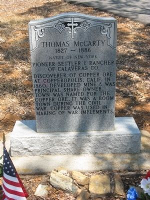 Thomas McCarty Marker image. Click for full size.