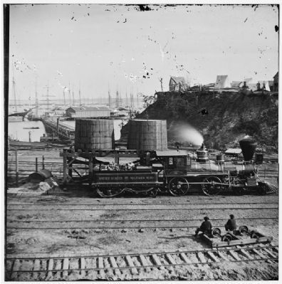 [City Point, Va. Another locomotive at the same point.] image. Click for full size.