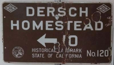 Dersch Homestead Road Directional Sign image. Click for more information.