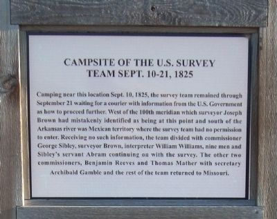 Campsite of the U.S. Survey Team Sept. 10-21, 1825 Marker image. Click for full size.