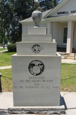 To the Veterans of All The Wars Marker, North face image. Click for full size.