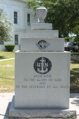 To the Veterans of All The Wars Marker, South face image. Click for full size.