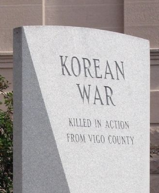 Korean War Memorial - - Vigo County Indiana Marker image. Click for full size.