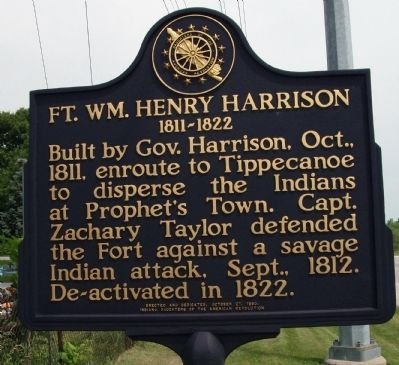 Fort William Henry Harrison Marker image. Click for full size.