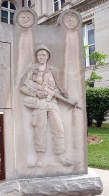 Ritht Panel - - Vietnam War Memorial - - Vigo County Marker image. Click for full size.
