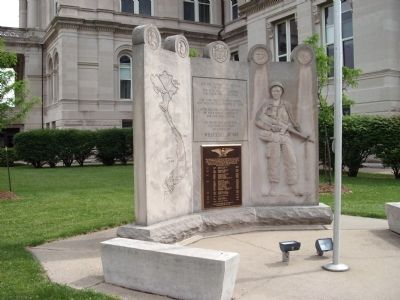 Left Close View - - Vietnam War Memorial - - Vigo County Marker image. Click for full size.