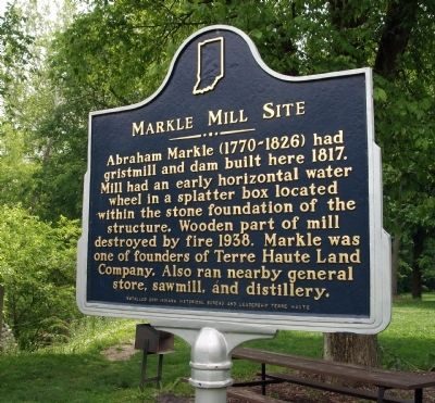 Markle Mill Site Marker image. Click for full size.