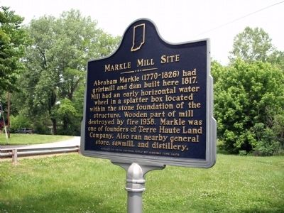 North View - - Markle Mill Site Marker image. Click for full size.