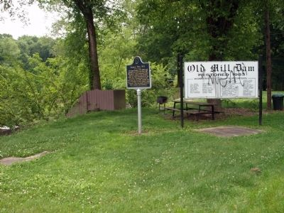 South View - - Markle Mill Site Marker image. Click for full size.