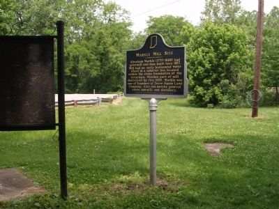 North Wide View - - Markle Mill Site Marker image. Click for full size.