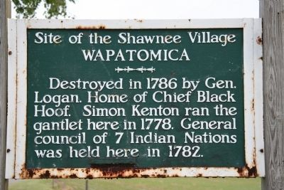 Site of the Shawnee Village, Wapatomica Marker image. Click for full size.