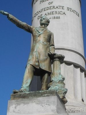 Closeup of Jefferson Davis image. Click for full size.