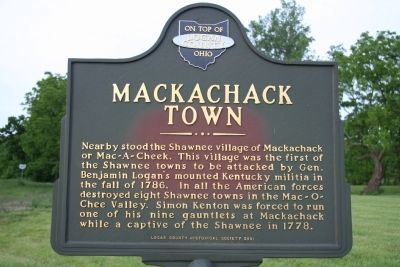 Mackachack Town Marker image. Click for full size.