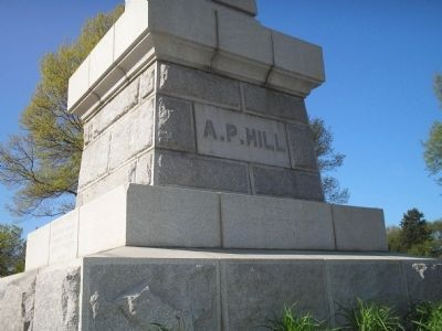 Back of A. P. Hill Marker image. Click for full size.