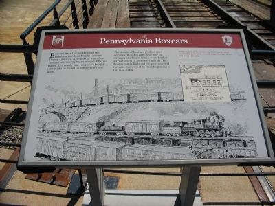 Pennsylvania Boxcars Marker image. Click for full size.