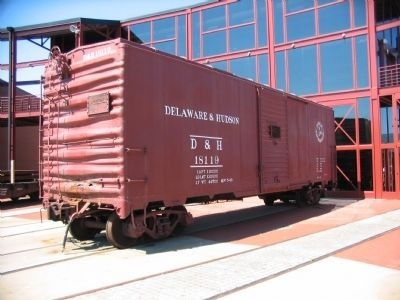 A Steel Boxcar on Display Nearby image. Click for full size.