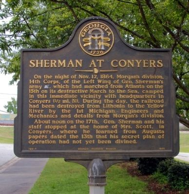 Sherman at Conyers Marker image. Click for full size.