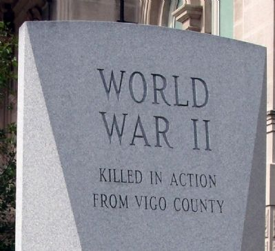 World War II War Memorial Marker image. Click for full size.