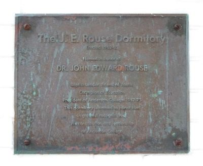 The J.E. Rouse Dormitory Marker image. Click for full size.