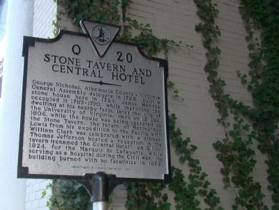 Stone Tavern and Central Hotel Marker image. Click for full size.
