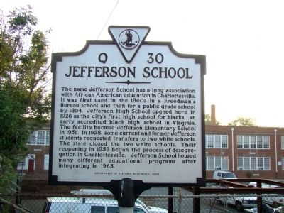 Jefferson School Marker image. Click for full size.