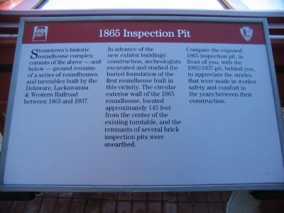 1865 Inspection Pit Marker image. Click for full size.
