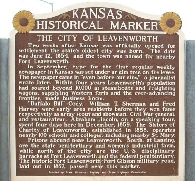 The City of Leavenworth Marker image. Click for full size.