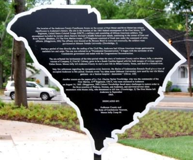 Anderson County Courthouse Annex Park Marker image. Click for full size.