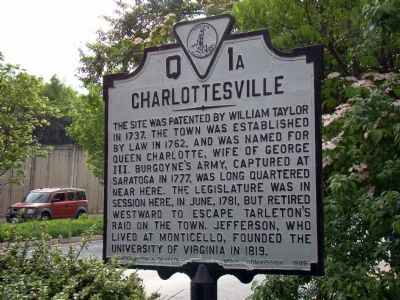 Charlottesville Marker image. Click for full size.