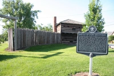 Battle of Fort Recovery Marker image. Click for full size.